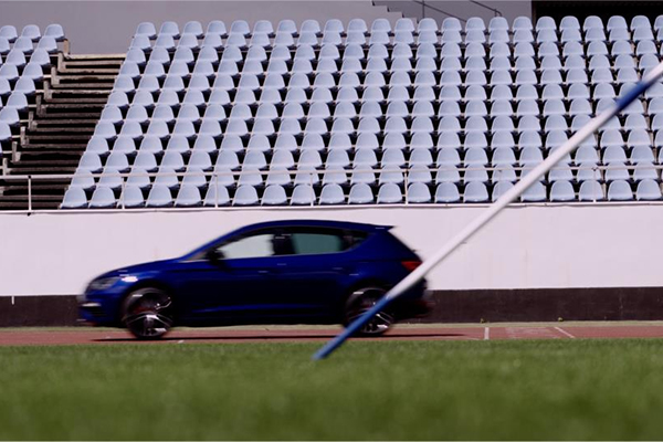 300hp 2.0 TSI CUPRA pitched against World Record holder Olympic javelin champion Barbora Sporakova in duel