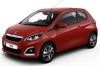 Peugeot 108 Hatchback 1.0 Access 3dr 5Mt Business Contract Hire 6x35 10000